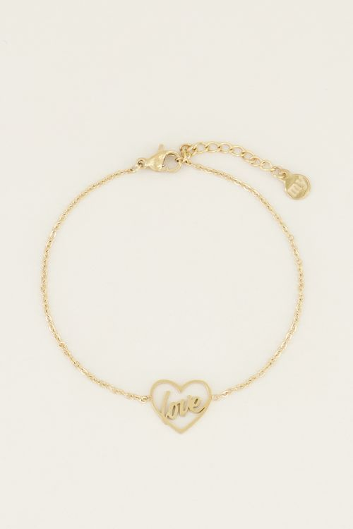 Moments bracelet love | Bedelarmband van My Jewellery