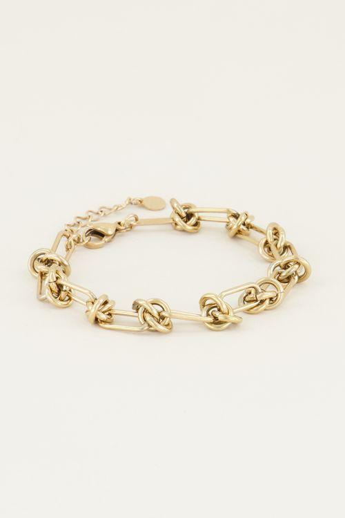 Armband met knoopjes | Knopen armband My Jewellery