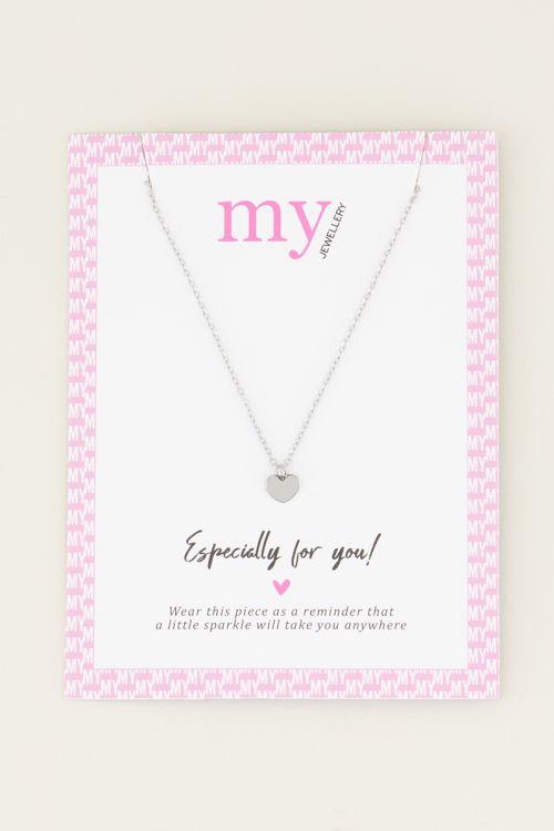 Ketting klein hartje | minimalistische ketting My Jewellery