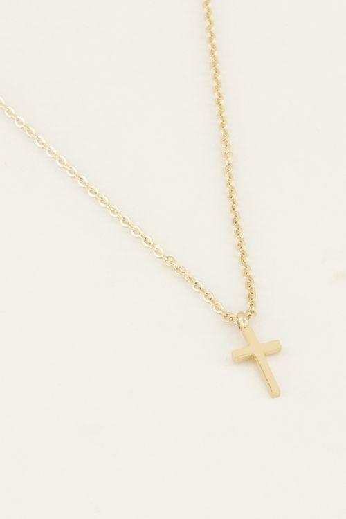 Ketting klein kruisje | Minimalistische ketting My Jewellery