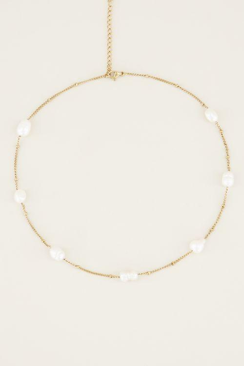 Ketting parels | Parel ketting | Stainless steel My Jewellery
