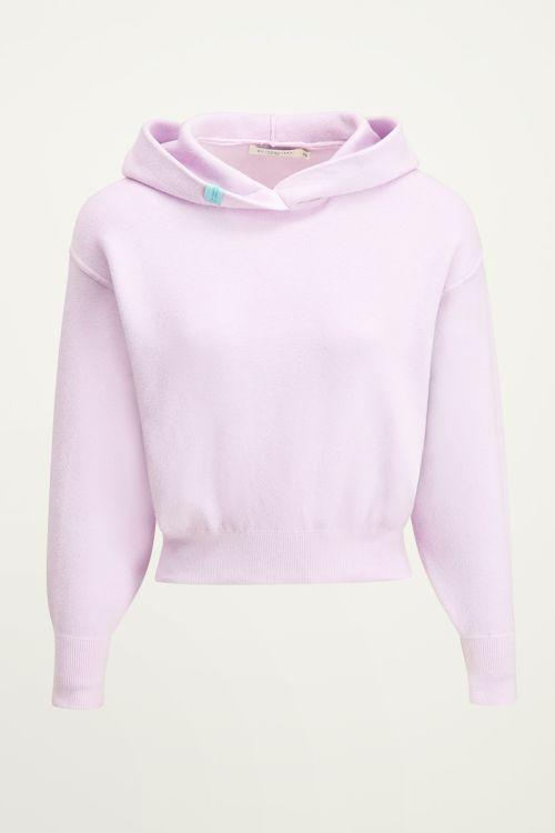 Lila hoodie met labeltje | Zachte hoodie bij My Jewellery