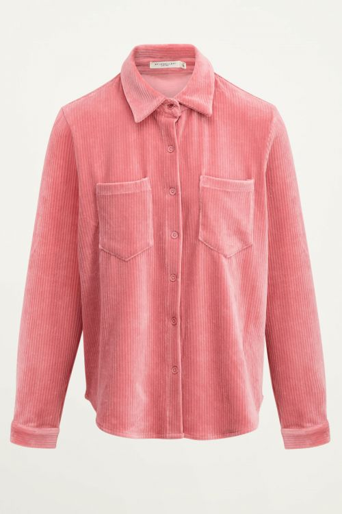 Roze corduroy blouse oversized | Corduroy blouse My Jewellery