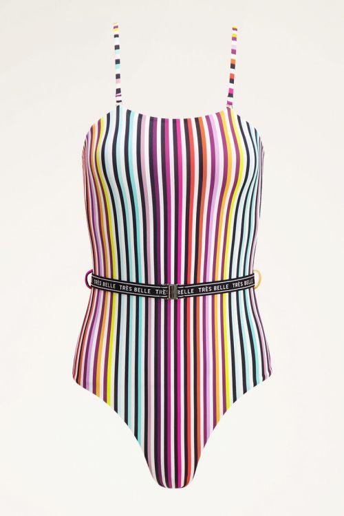 Multi-colour striped swimsuit | Striped swimsuit | My Jewellery