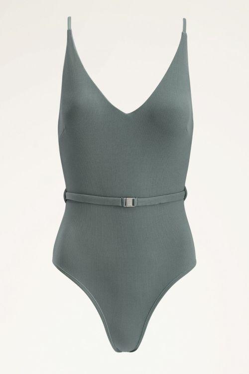 Groen badpak met riem | Swimwear My Jewellery