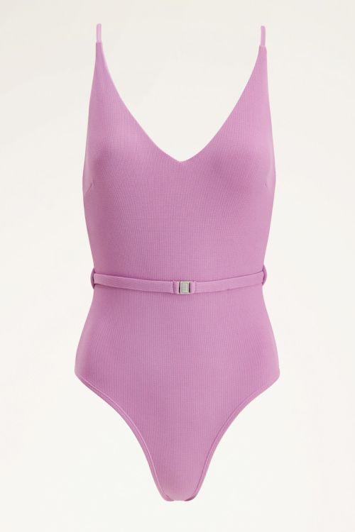 Pink swimsuit with belt | Swimwear | My Jewellery