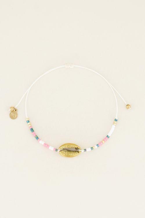 Armbandje met schelp & kraaltjes | My Jewellery
