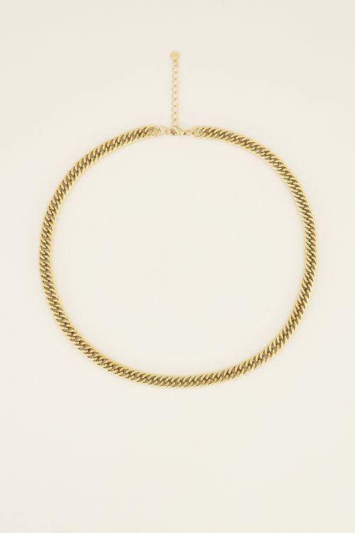 Middellange ketting brede schakels | My Jewellery