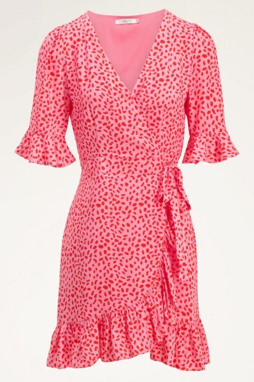 Roze wikkeljurk rode dots | My Jewellery