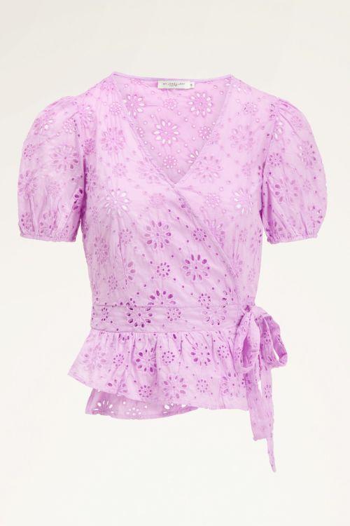 Lila blouse   Overslag blouse dames   My Jewellery