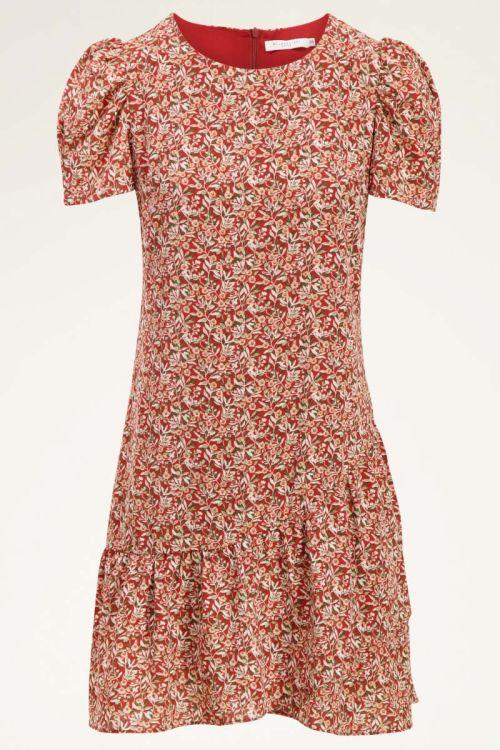 Rode jurk met bloemenprint | Jurken dames | My Jewellery