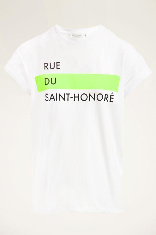 Wit T-shirt met print | Wit t-shirt dames | My Jewellery