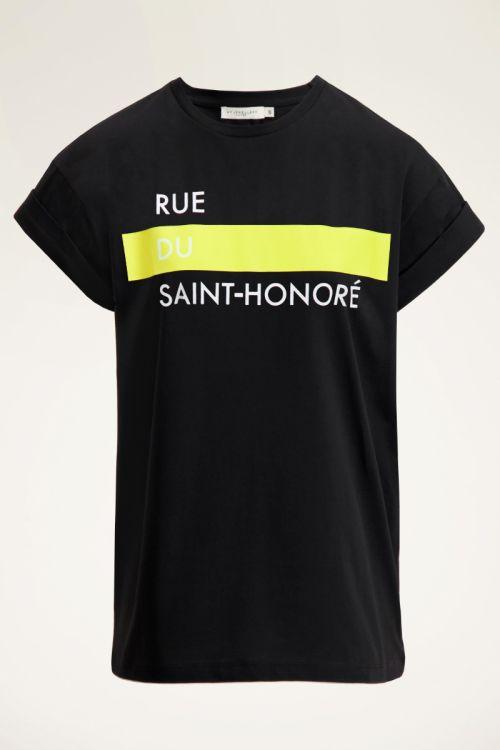 Zwart T-shirt met print | Zwart t-shirt dames | My Jewellery