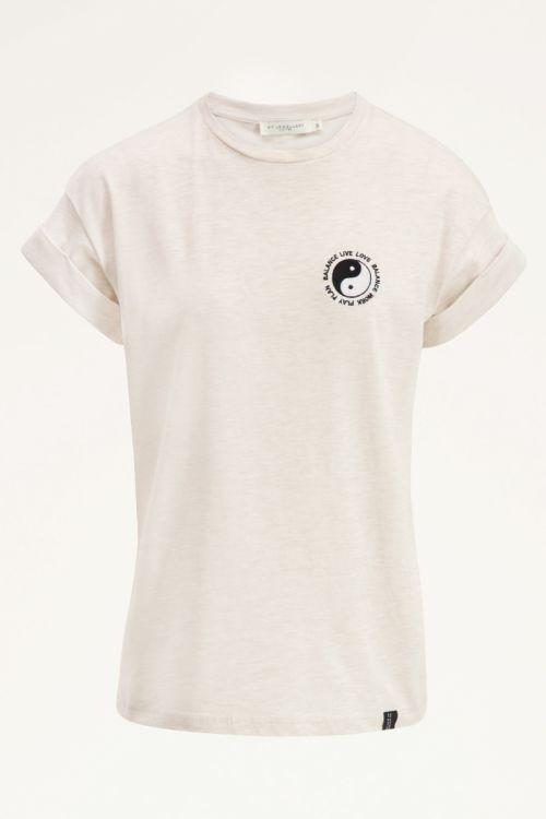 Beige shirt yin yang   My Jewellery