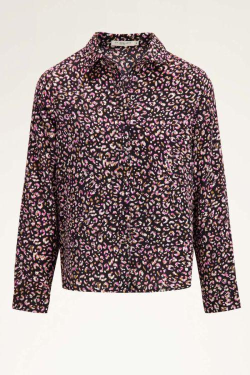 Roze blouse cheetah print | Blouses | My Jewellery