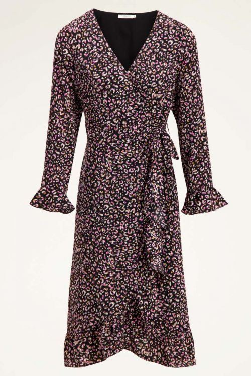 Roze midi jurk cheetah print | Jurkjes | My Jewellery