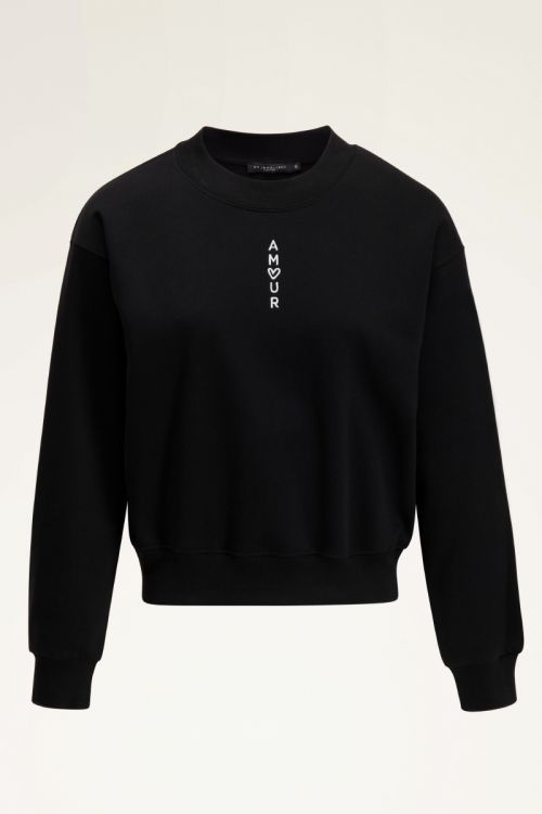 Zwart sweater amour | Truien | My Jewellery
