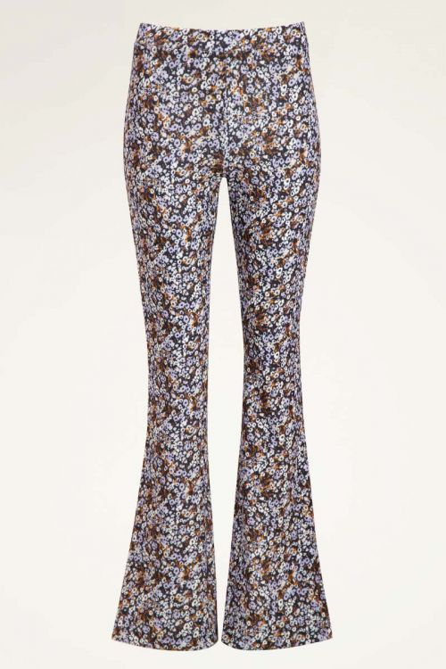 Lila flared pants met bloemen | My Jewellery