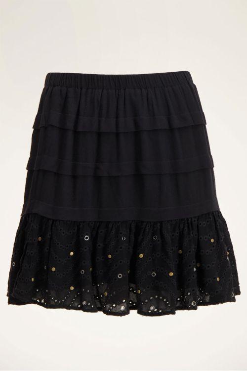 Zwarte rok met laagjes & studs | Rokjes | My Jewellery