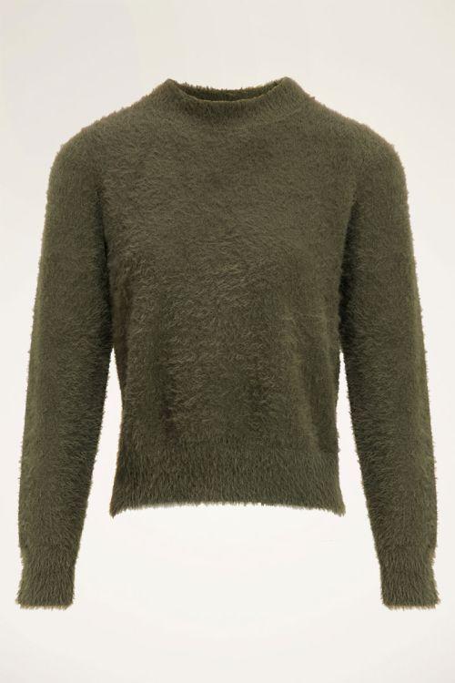 Donkergroene fluffy trui | Truien | My Jewellery