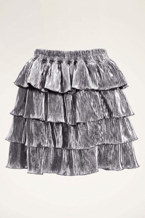 Zilveren rok met laagjes en glitter | My Jewellery