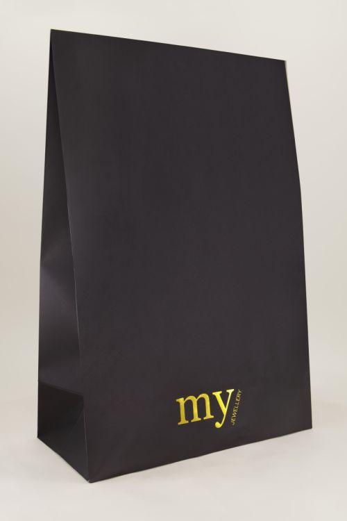 Zwarte flapbox groot   Cadeauverpakking