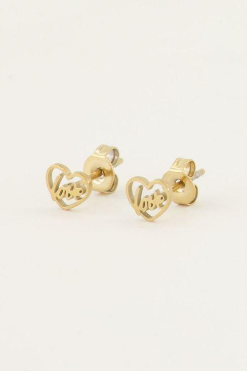 Studs love in hartje | Studs | My Jewellery