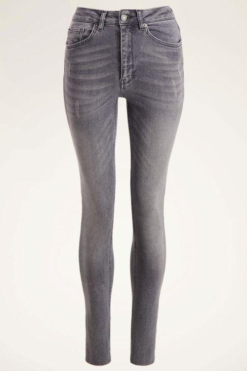 Grijze high waisted skinny jeans | My Jewellery
