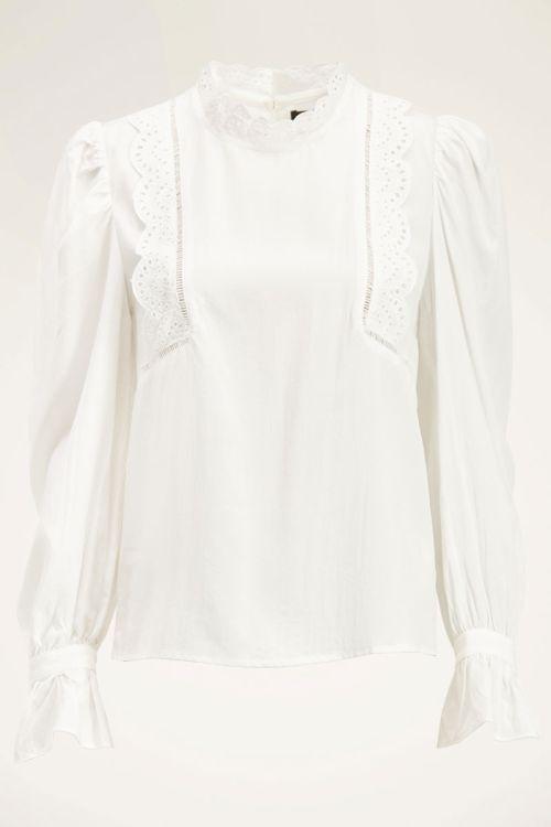 Witte blouse met broderie   My Jewellery