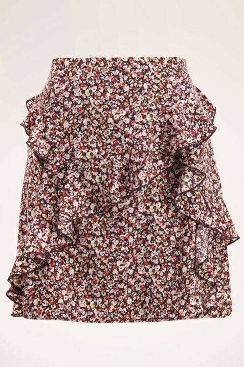 Multikleur rok met ruffles en bloemenprint | My Jewellery