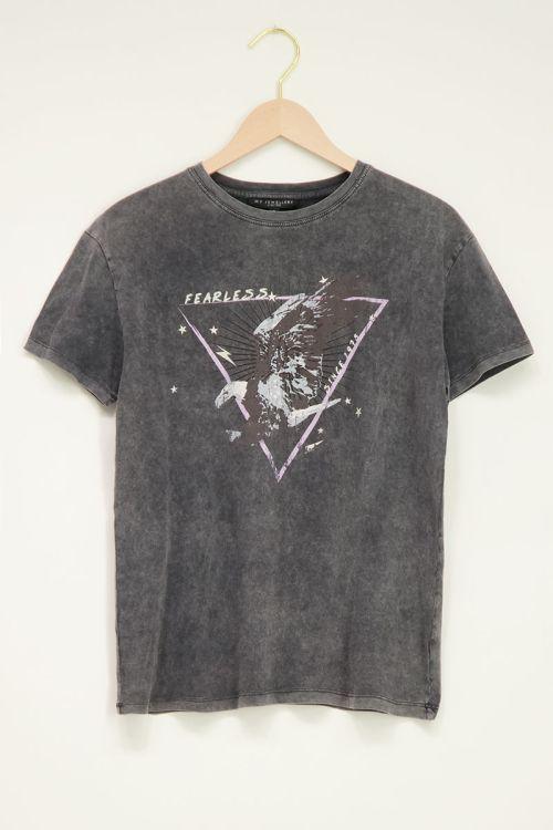 Lichtgrijs T-shirt fearless   My Jewellery