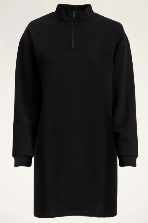 Zwarte sweaterjurk met rits | My Jewellery