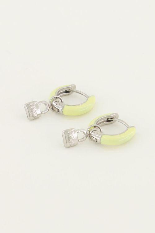 Oorringen geel slotje | My Jewellery