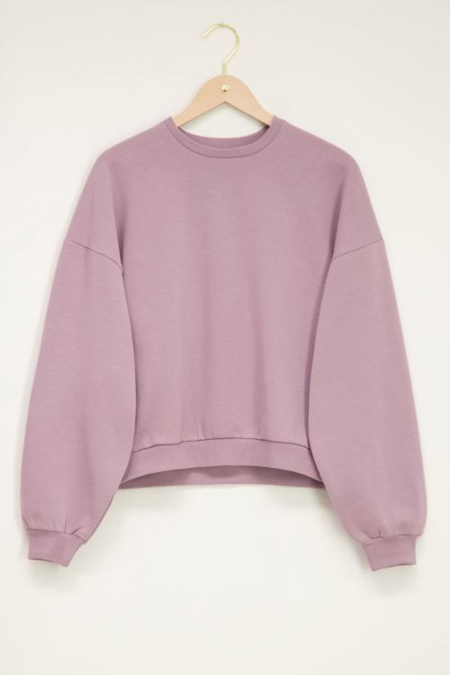 Paarse basic sweater