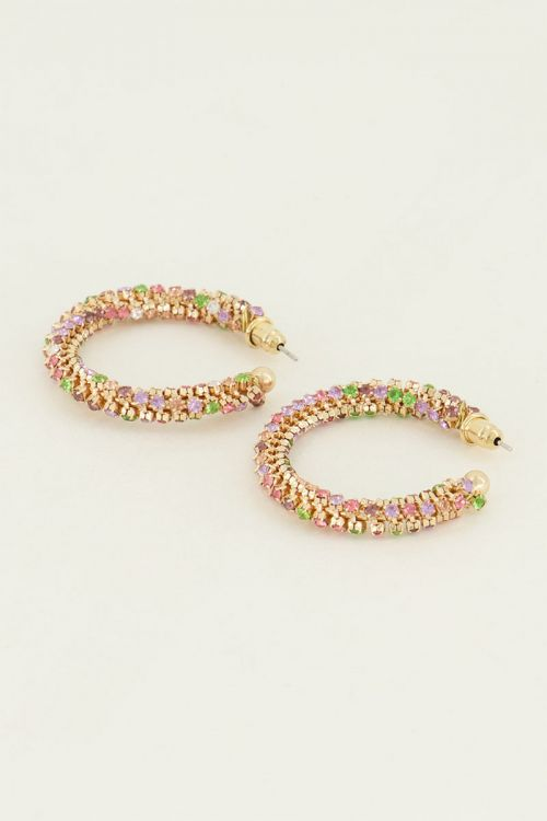 Oorbellen steentjes rond | oorbellen | My Jewellery