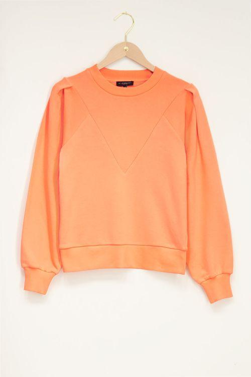 Oranje sweater with high cuff | My Jewellery