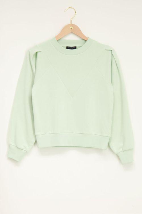 Groene sweater with high cuff | My Jewellery