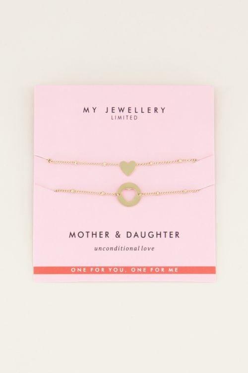 Mother daughter bracelet heart My Jewellery