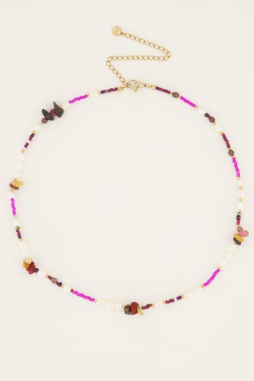 Multikleur ketting met verschillende kralen | My Jewellery