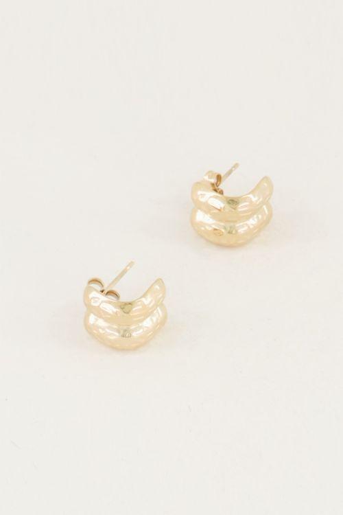 Kleine oorringen met dubbele ring, oorringen klein