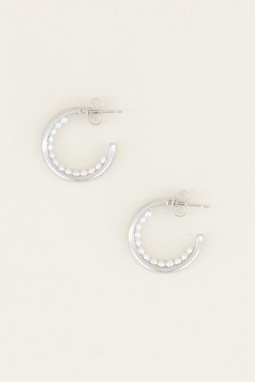 Kleine Ohrringe mit Perlen| Perlen-Ohrringe| My Jewellery