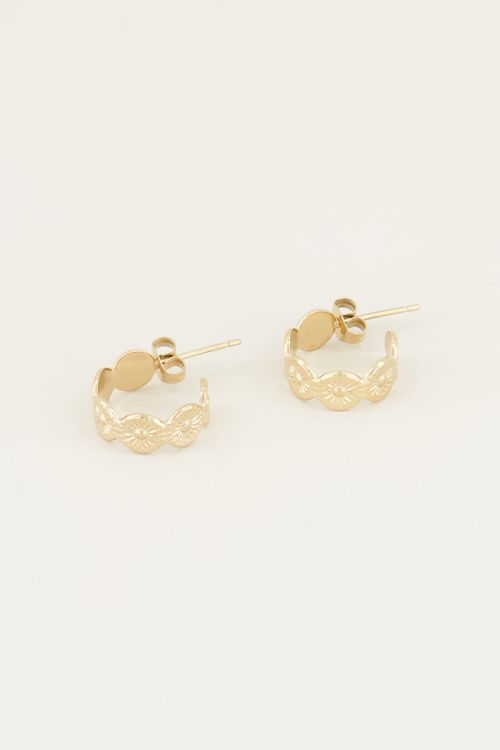 Drop earrings with circular pattern | Earrings with circles My jewellery