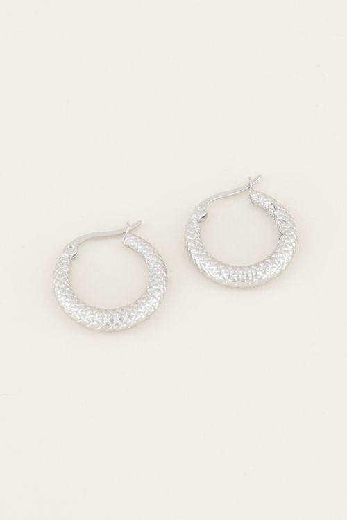 Earrings with criss-cross pattern | Small earrings from My Jewellery