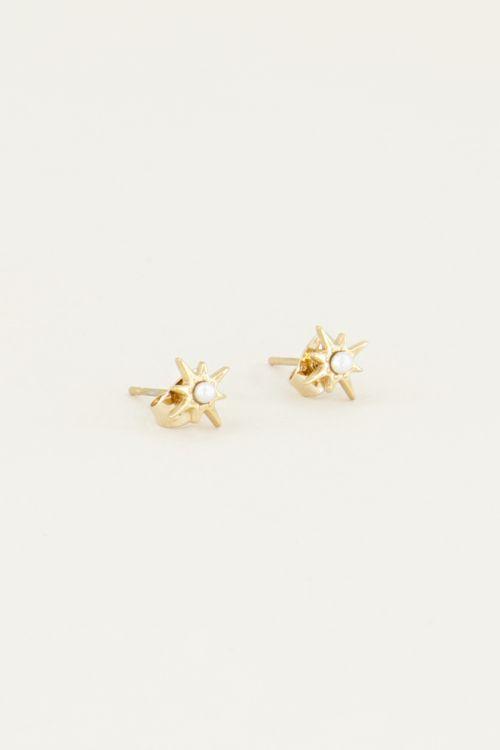 Studs ster en parels | Oorknopjes My Jewellery
