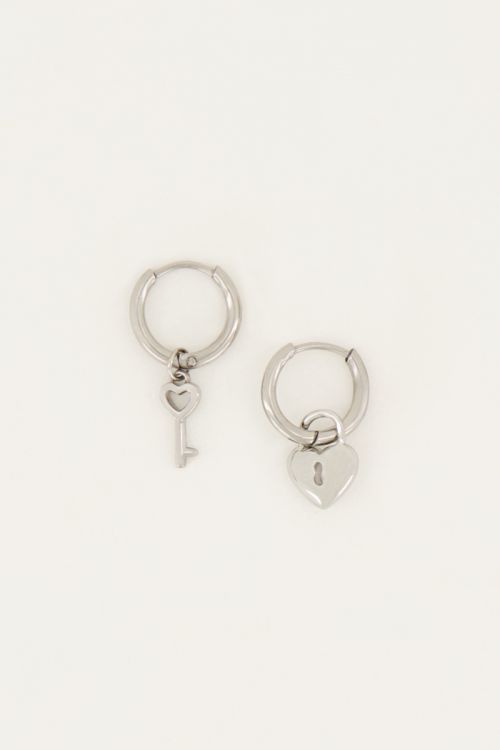 Oorringen slotje & sleutel