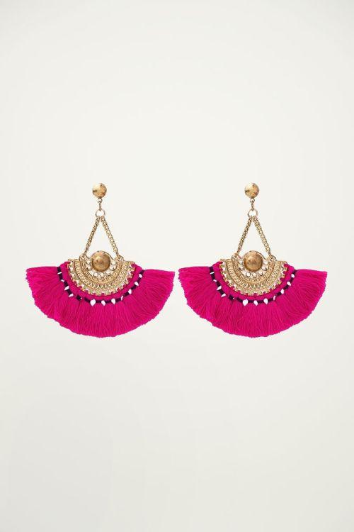 My Jewellery oorbellen met kwastjes roze