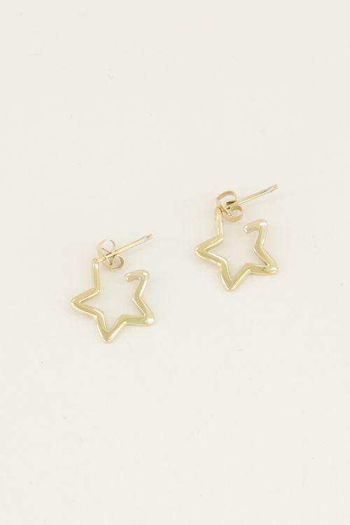 Open star earring | Earrings with star My jewellery