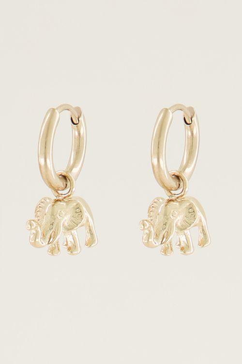 Oorringen olifant, olifant oorbellen My Jewellery