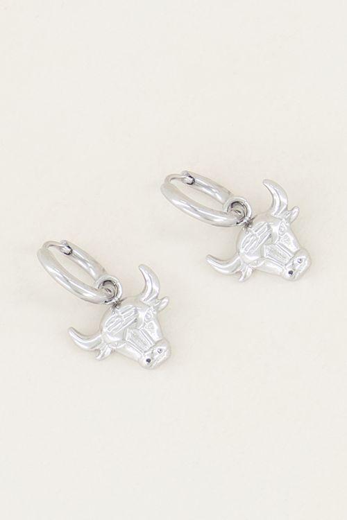 Bull earrings, earring charms My Jewellery