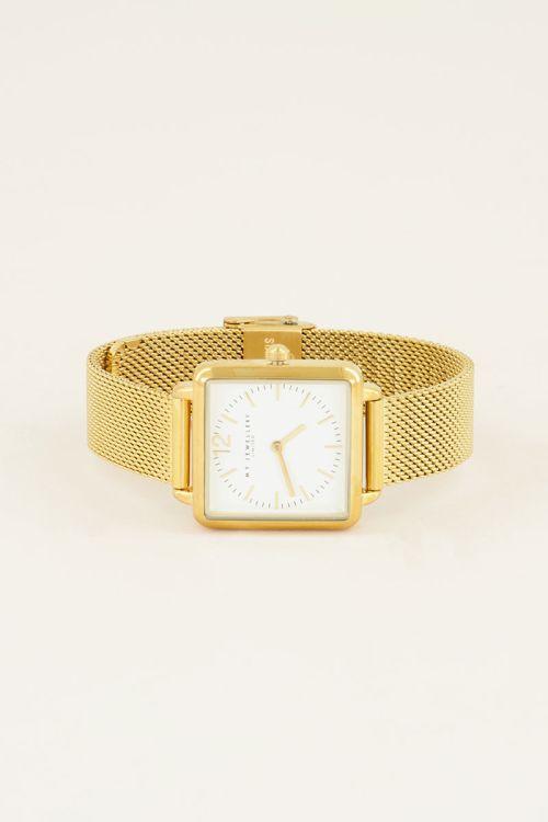 Vierkant horloge mesh, vierkant horloge My Jewellery